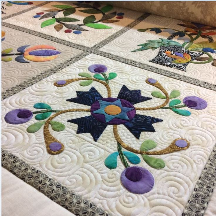 55 best Quilt - Applique Affair - Edyta Sitar images on Pinterest ... : applique for quilts - Adamdwight.com