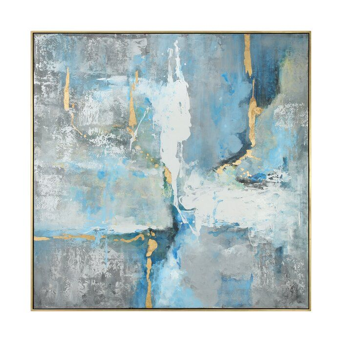 Mediterranean Framed Print On Canvas In 2020 Modern Art Paintings Abstract Canvas Painting Canvas Painting