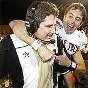 Former Texas Tech head coach Mike Leach won a bowl game with the happy Kliff Kingsbury