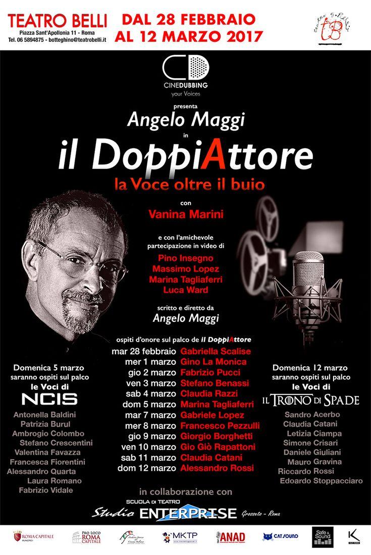 Il primo spettacolo teatrale sul doppiaggio cinematografico torna a Roma dal 28 febbraio al Teatro Belli! http://www.elisabettacastiglioni.it/eventi/307-doppiattore-2017.html