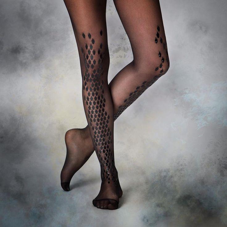 virivee Dragon tights in black! 🐲⚡️