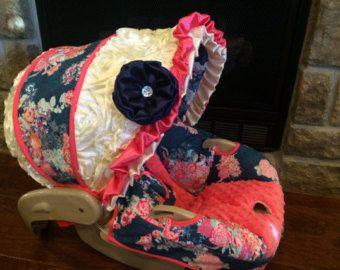 4 PC Custom Infant Car Seat Cover Boutique by SamanthaTBoutique
