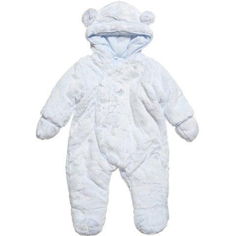 Absorba Childrens Designer Clothes - Baby Boy Blue Snowsuit - Dandy Lions Boutique