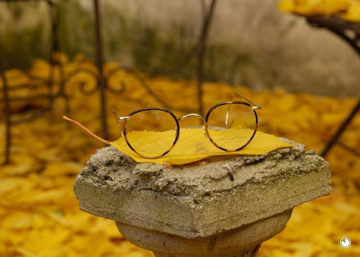 Klassik Pantobrille mit Windsorringen und Gespinstbügel neu gefertigt