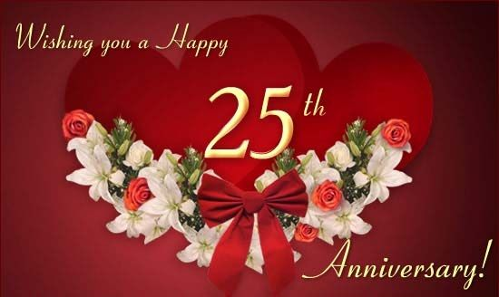 happy 25 anniversary quotes   25th Wedding Anniversary Wishes Quotes Messages
