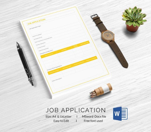 The 25+ best Job application template ideas on Pinterest Resume - free job application