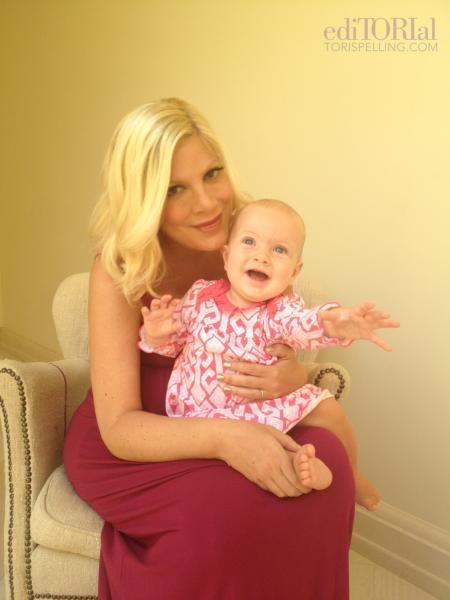Tori Spelling and daughter Hattie