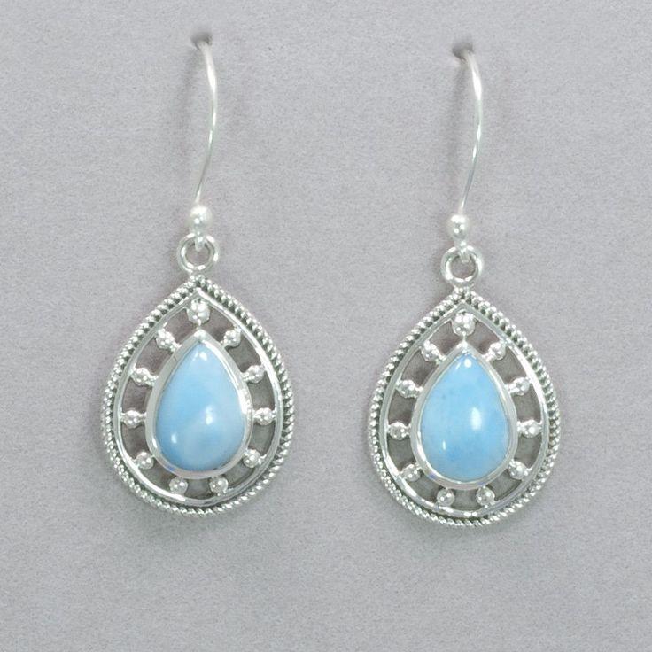 5459c4e1b Tear Drop Sterling Silver Larimar Earrings | Larimar Collection | Earrings,  Larimar jewelry, Jewelry