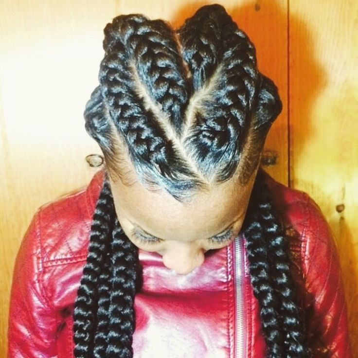 French Braids #protectivestyle #cornrows #naturalhair