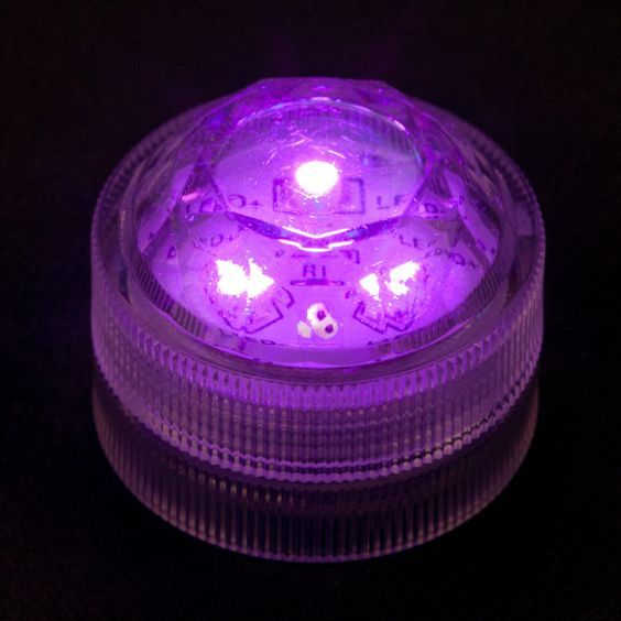100 Candles offer Purple Submersible Triple LED Light at deep discounts. Find thousands of Battery Operated and Tealights featuring Battery Operated,Bling,Bulk,Centerpieces,Emergency,Flameless,Floral,IntelliFLAME,LED,Lighting,Non Flicker,Party,Popular,Purple,Sale,Special Effects,Submersible,Tealights,Waterproof,Wedding