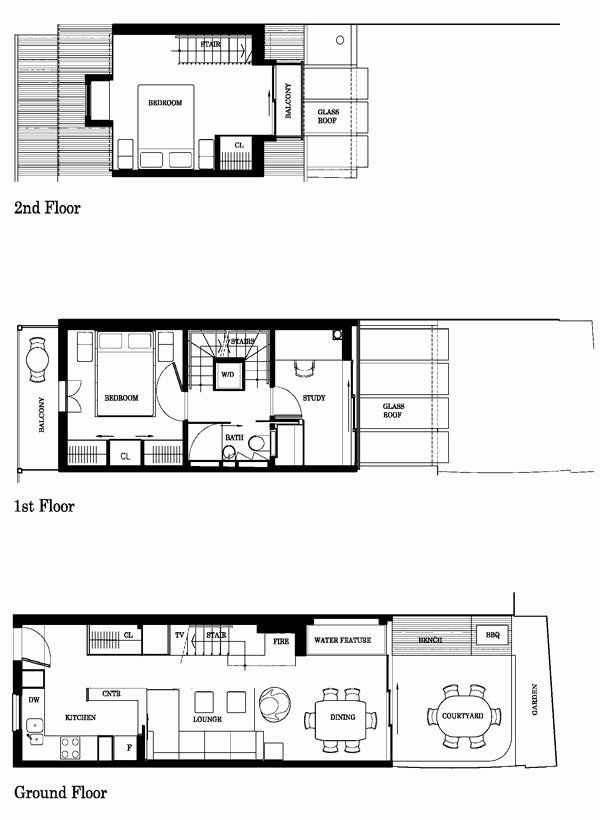 10 Feet Wide House Plans Luxury Small Cool Extra Kirk S Narrow Australian Terrace In 2020 House Plans How To Plan House Floor Plans