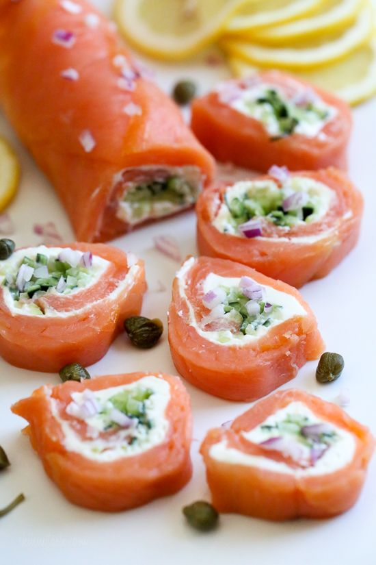 These elegant smoked salmon pinwheels are perfect if you want to enjoy lox without the bagels for a low-carb, keto appetizer.