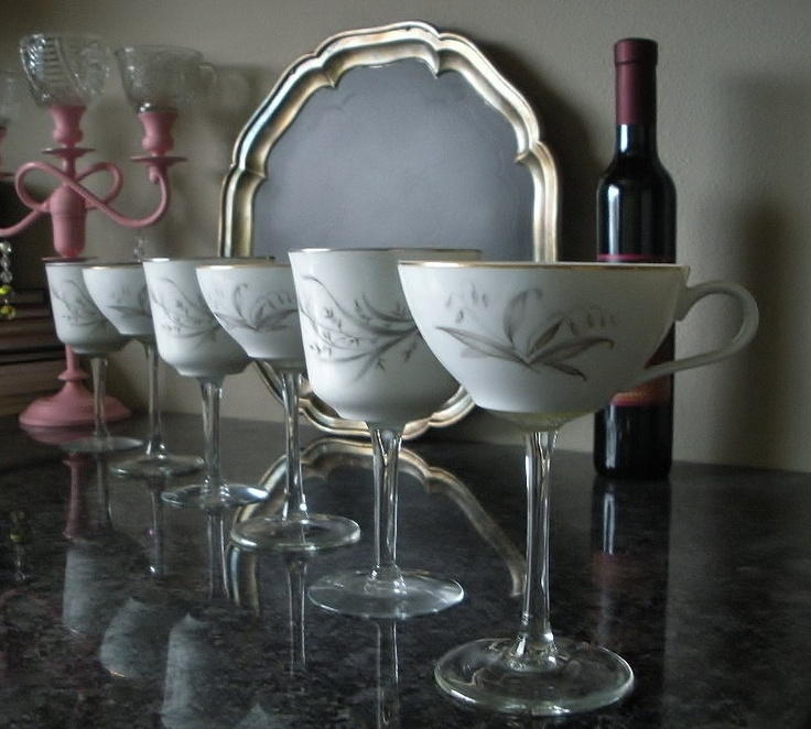 What An Amazing Idea Vintage Teacups Transformed Into