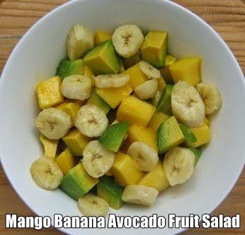 mango banana avocado fruit salad