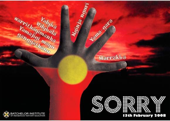 Sorry' apology to Stolen Generations  the Word sorry in a range of indiginous languages