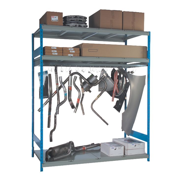 Hanging Rack : No. Shelves:9 / Width (inches):72 / Height (inches):87 / Depth (inches):36 / Net weight (lb.):249.78 / 300 lb capacity per rail.. / Hooks pivot once installed on the rail. They can be put on and taken off the rail at all times. / Capacity: 50 lb per hook. / Versatile structure, to which a wide range of accessories can be added.