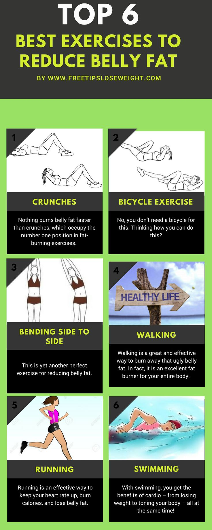 6 Easy Exercises To Reduce Belly Fat  #weightloss #health #healthcare #healthylifestyle #healthyliving #weightlossjourney