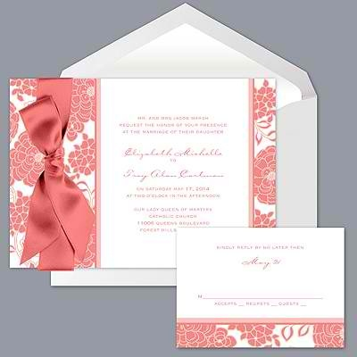 Wedding Invitations From Davidu0027s Bridal In The Coral Color That I Like : )