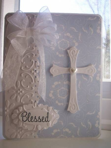 White cross card - This could easily be made into an Easter card