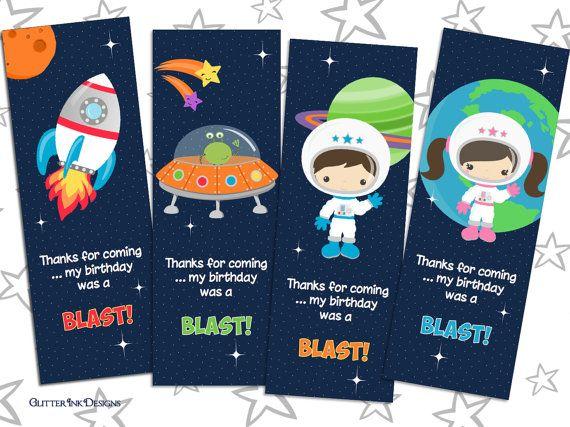 Espacio espacio imprimible gracias tarjeta de por GlitterInkDesigns
