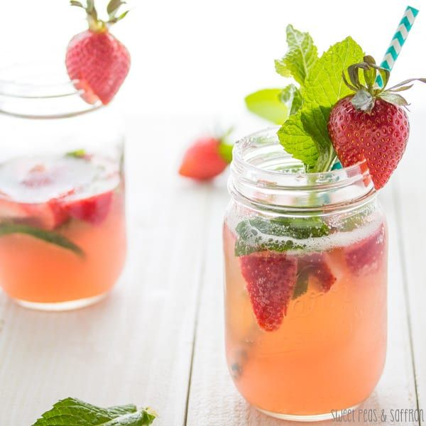 Strawberry-Rhubarb Rosé Sangria