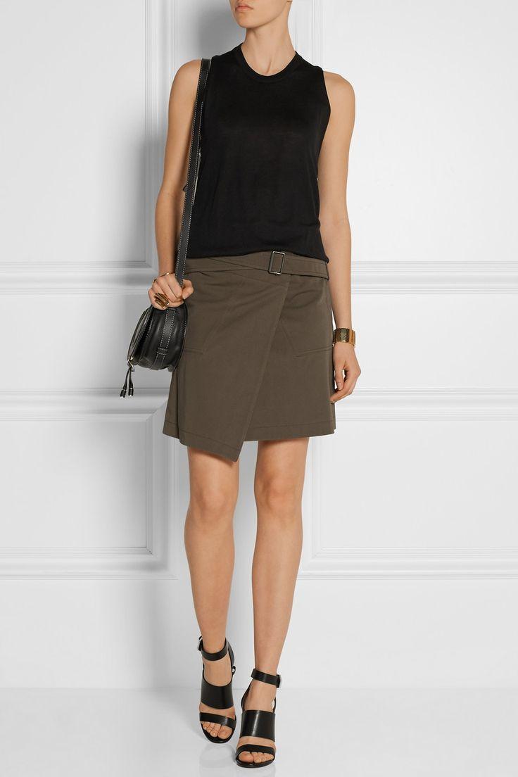 Belstaff|Ryder stretch-cotton twill wrap mini skirt|NET-A-PORTER.COM