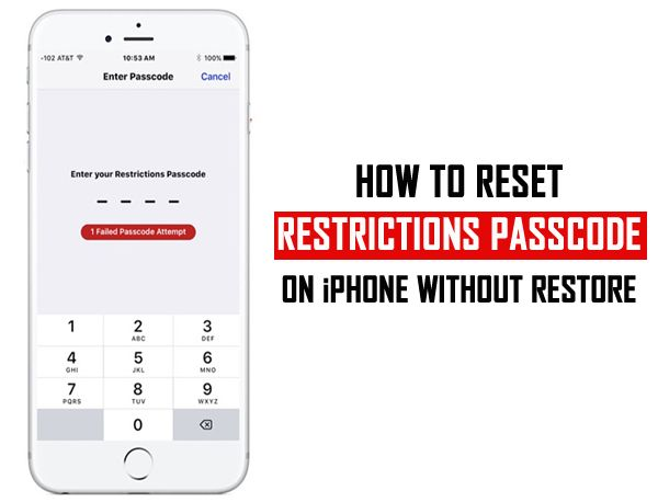 How To Reset Restrictions Passcode On Iphone Without Restore 1 Reset The Restrictions Passcode On Ipho Unlock Iphone Unlock Iphone Free Remember Password