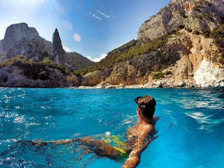 Cala Mariolu Beach In Baunei, Sardinia, Italy Stock Photo, Picture ...