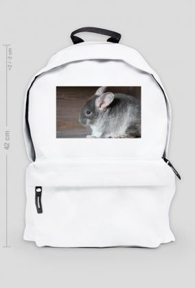 White backpack with your chinchillas!   Plecak do szkoły, pracy czy na wycieczkę z Twoją szynszylą! www.uszynszyla.cupsell.pl #szynszyle #szynszyla #Uszynszyla #szynszyle #plecak #prezent #gift #gryzonie #inspiracje
