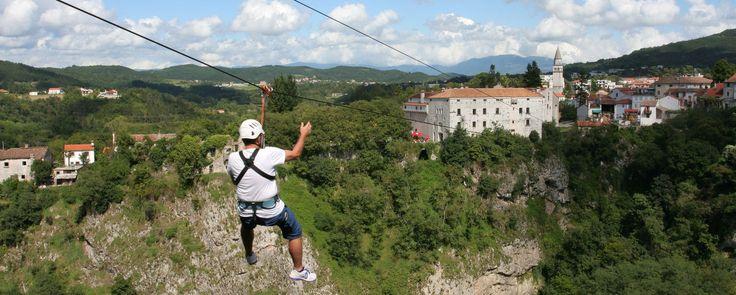 Zip line Pazinska jama | Central Istria - Tourist board