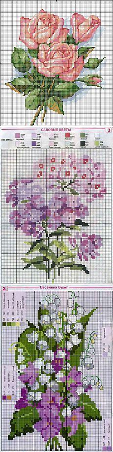Схемки цветов / Схемы вышивки крестиком / PassionForum - мастер-классы по рукоделию