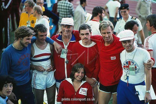 great britains gold medal winning modern pentathlon team at the
