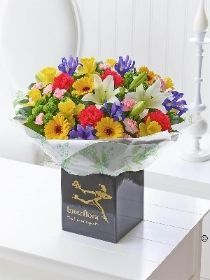 Spring Hand tied with Chocolates