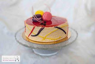 Rice pudding-  Blackcurrant- Raspberry cake