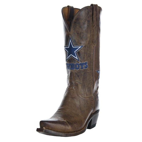 Dallas Cowboys Lucchese Womens Tan Horseman Boot - Width B | Dallas Cowboys Clothing | Dallas Cowboys Store - Dallas Cowboys Pro Shop