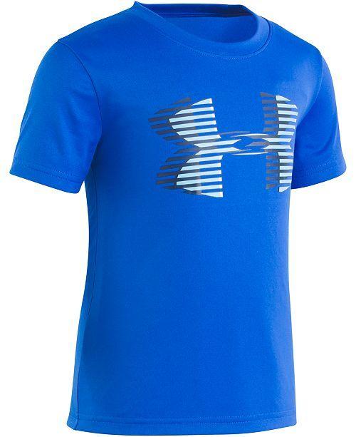 afed7826b Under Armour Little Boys Linear Logo T-Shirt   Reviews - Shirts   Tees -  Kids - Macy s