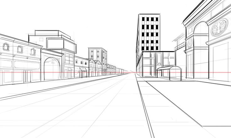 perspective guides  how to draw architectural street scenes  u2014 a handy step