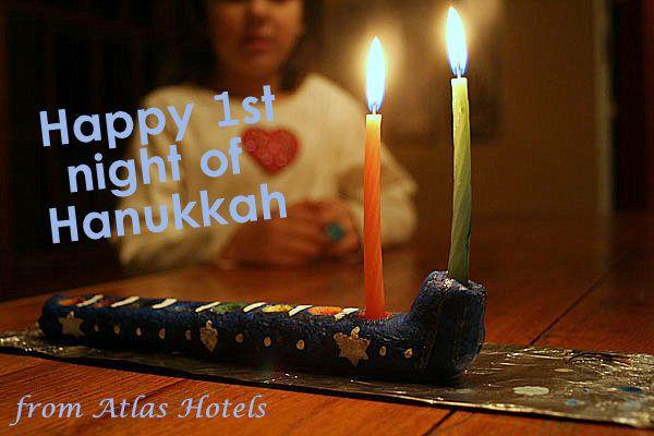 Chag Sameach/Happy Holidays, and a wonderful 1st night of #Hanukkah from Atlas Hotels! atlas.co.il