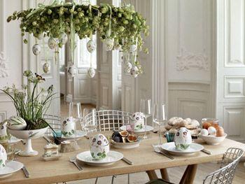Påskebord - Dekoreret med Royal Copenhagen Påskeæg
