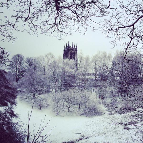 A Snowy Scene, submitted by @LittleLegs via Twitter. #SnapWarrington