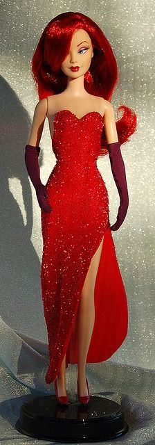 Jessica Rabbit Barbie. Curated by Suburban Fandom, NYC Tri-State Fan Events: http://yonkersfun.com/category/fandom/