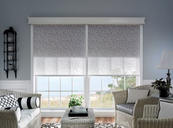 Dual shades make it easy to control light and privacy for Bali motorized window treatments