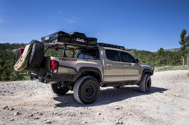 2016+ Tacoma (3rd Gen) Overland Series High Clearance Rear Bumper System | C4 Fabrication