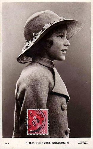 Young Queen Elizabeth II - If you look at a picture of the Queen as she is today, smiling and/or laughing, you can see that this young Elizabeth is still very much there and visible.