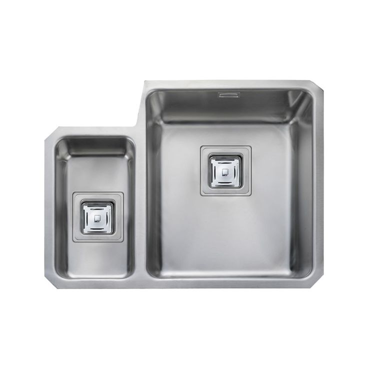 Rangemaster Atlantic Quad 1.5 Brushed Stainless Undermount Kitchen Sink QUB3416L