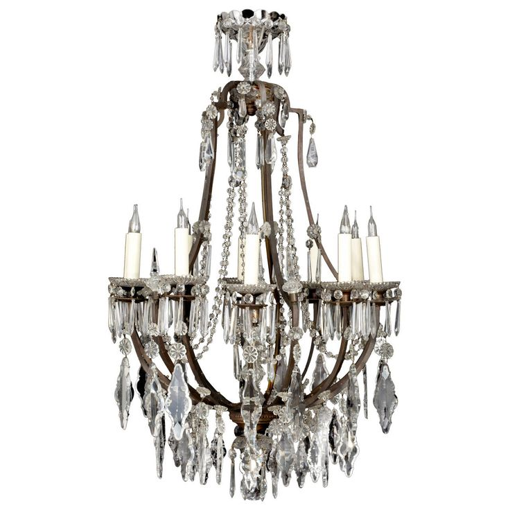 Large Bronze Cage, Bella Epoque Era Chandelier | From a unique collection of antique and modern chandeliers and pendants  at https://www.1stdibs.com/furniture/lighting/chandeliers-pendant-lights/