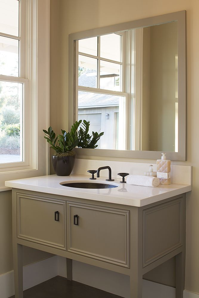 In any bathroom, it is always better to have more counter space than you need. Just keep the clutter away!