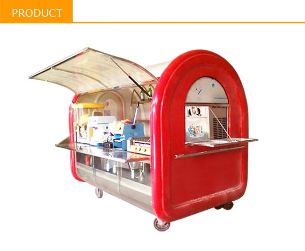 CE OEM GAS/ELECTRICAL pizza/crepe makers mobile food cart design with Caster and Jack $600~$15000