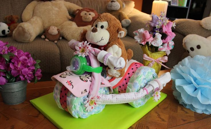 Tricycle Diaper Cake - How to make, via YouTube.