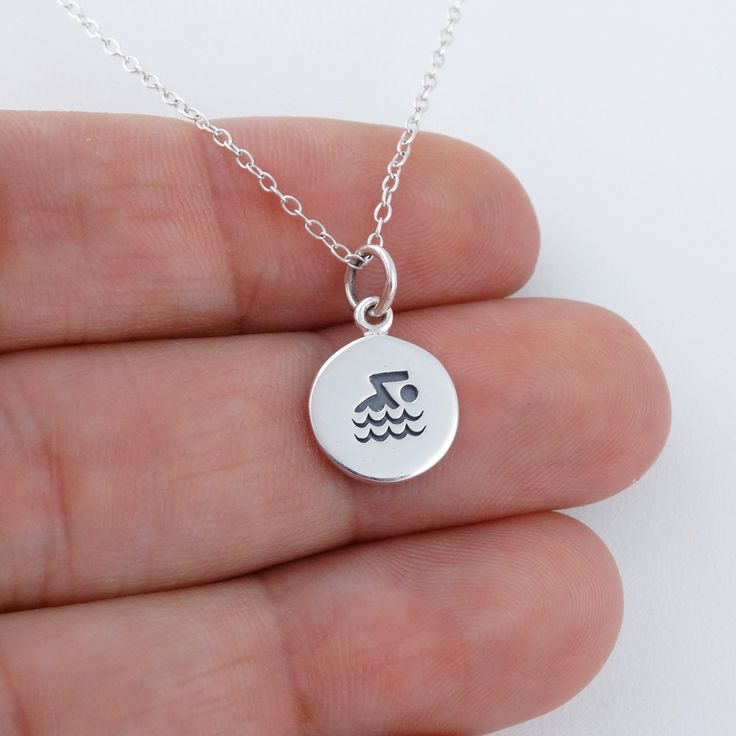 Swimmer Necklace - 925 Sterling Silver